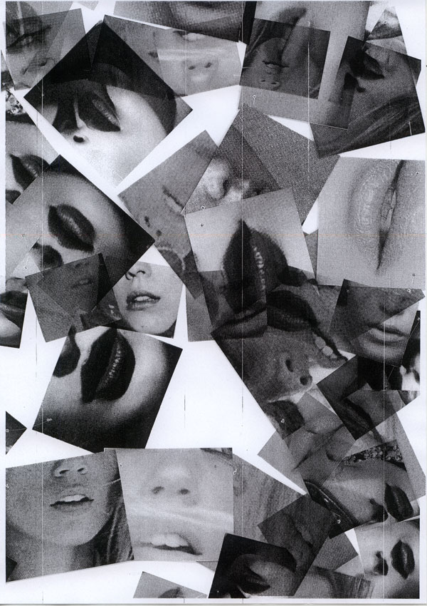 Collage of photocopied mouths